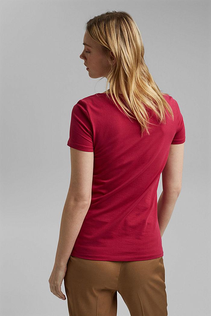 Basic T-Shirt aus Organic Cotton, DARK PINK, detail image number 3