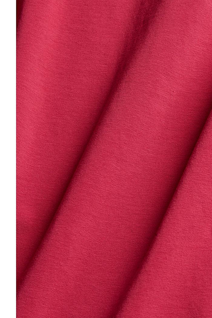 Basic T-Shirt aus Organic Cotton, DARK PINK, detail image number 4
