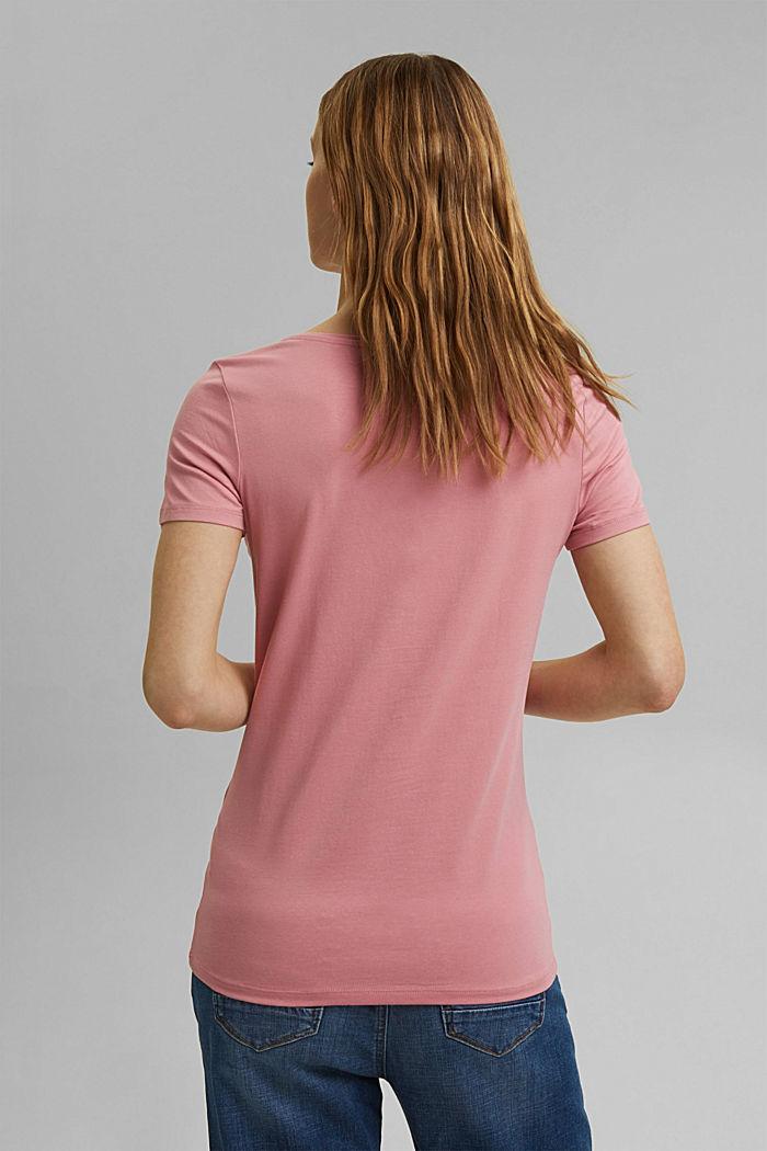 Basic T-shirt in organic cotton, PINK, detail image number 3