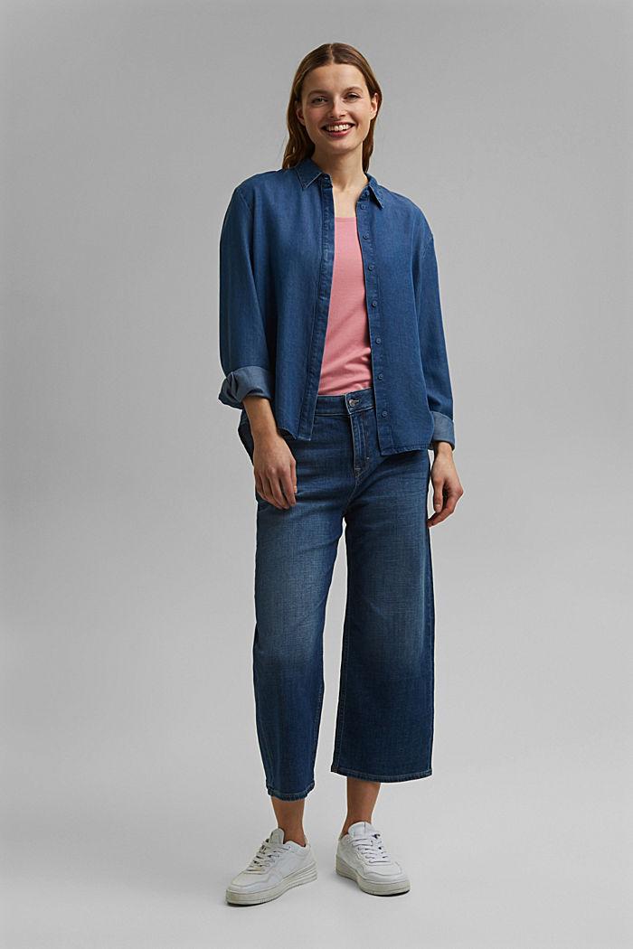 Basic T-shirt in organic cotton, PINK, detail image number 1