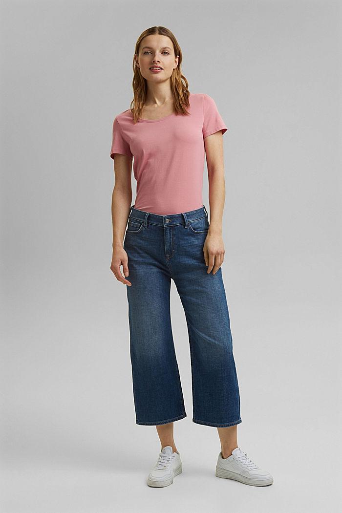Basic T-shirt in organic cotton, PINK, detail image number 6