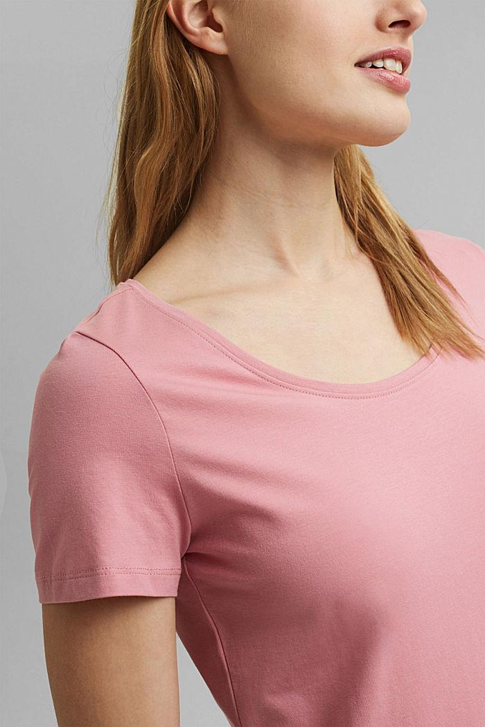 Basic T-shirt in organic cotton, PINK, detail image number 2