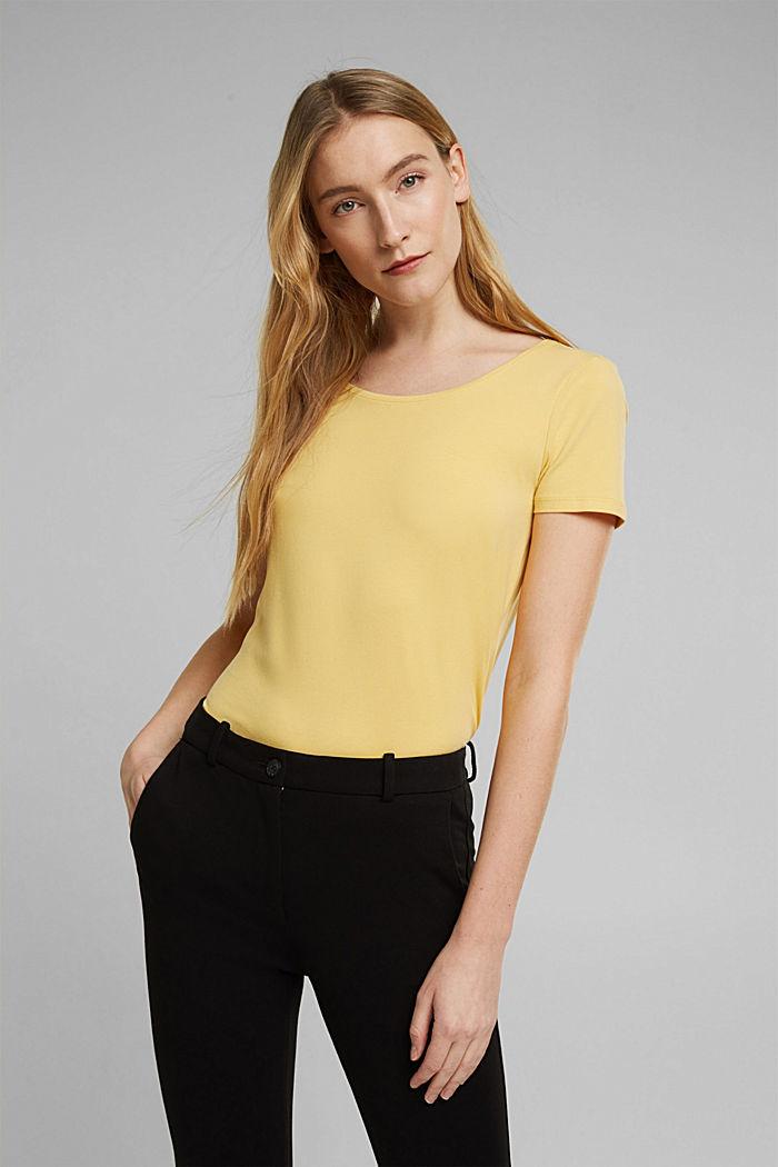 T-shirt basic z bawełny organicznej, SUNFLOWER YELLOW, detail image number 0