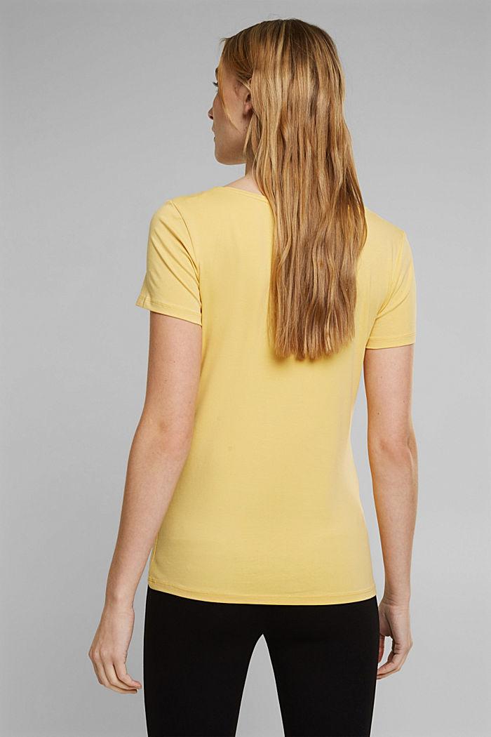 Basic T-shirt in organic cotton, SUNFLOWER YELLOW, detail image number 3