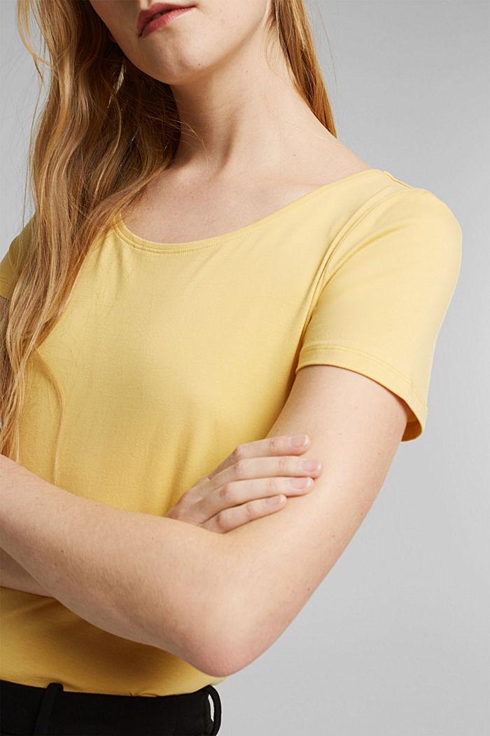 T-shirt basic z bawełny organicznej, SUNFLOWER YELLOW, detail image number 2