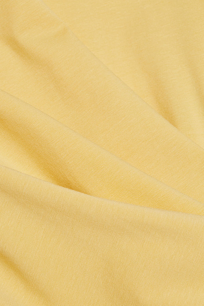 Basic T-Shirt aus Organic Cotton, SUNFLOWER YELLOW, detail image number 4