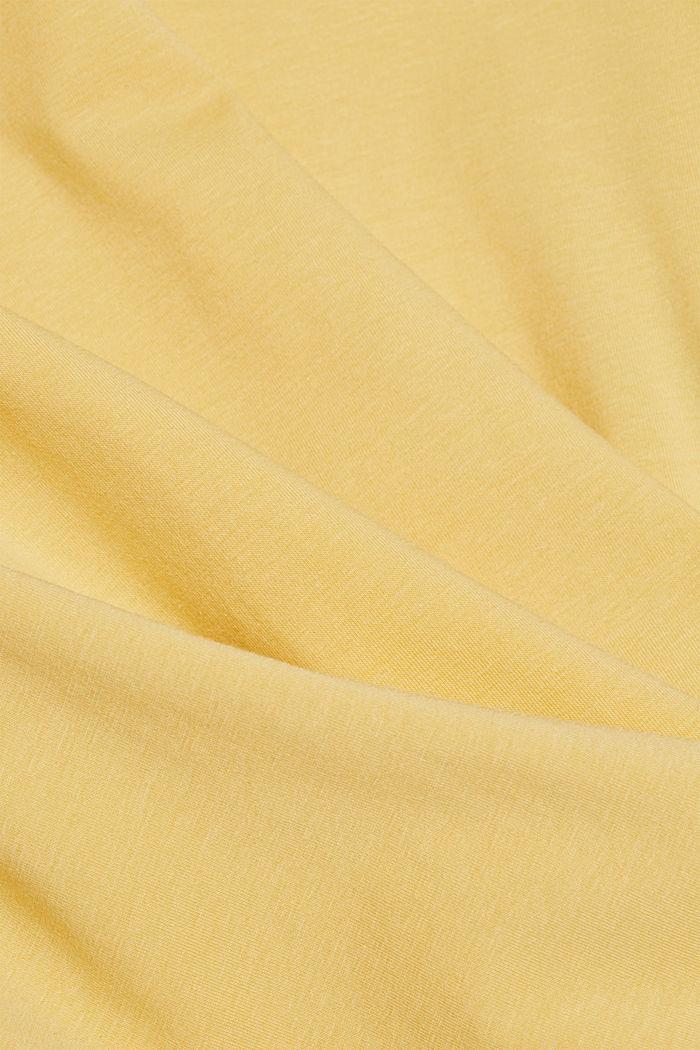 T-shirt basic z bawełny organicznej, SUNFLOWER YELLOW, detail image number 4