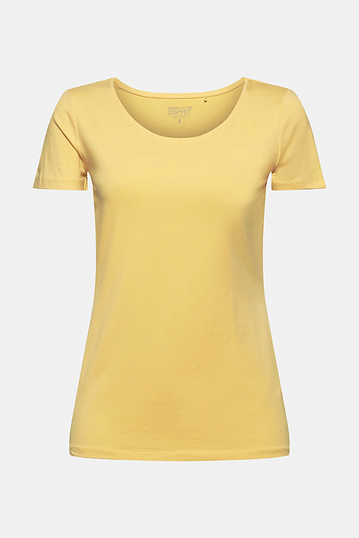 Basic T-shirt in organic cotton, SUNFLOWER YELLOW, detail image number 5