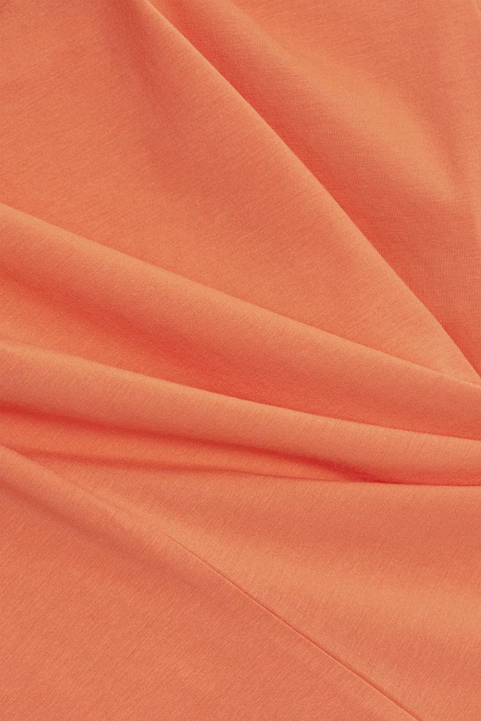 Basic T-Shirt aus Organic Cotton, CORAL ORANGE, detail image number 4