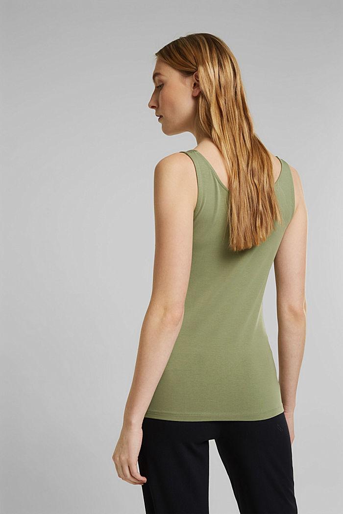 Tank-Top mit Stretch aus Organic Cotton, LIGHT KHAKI, detail image number 3