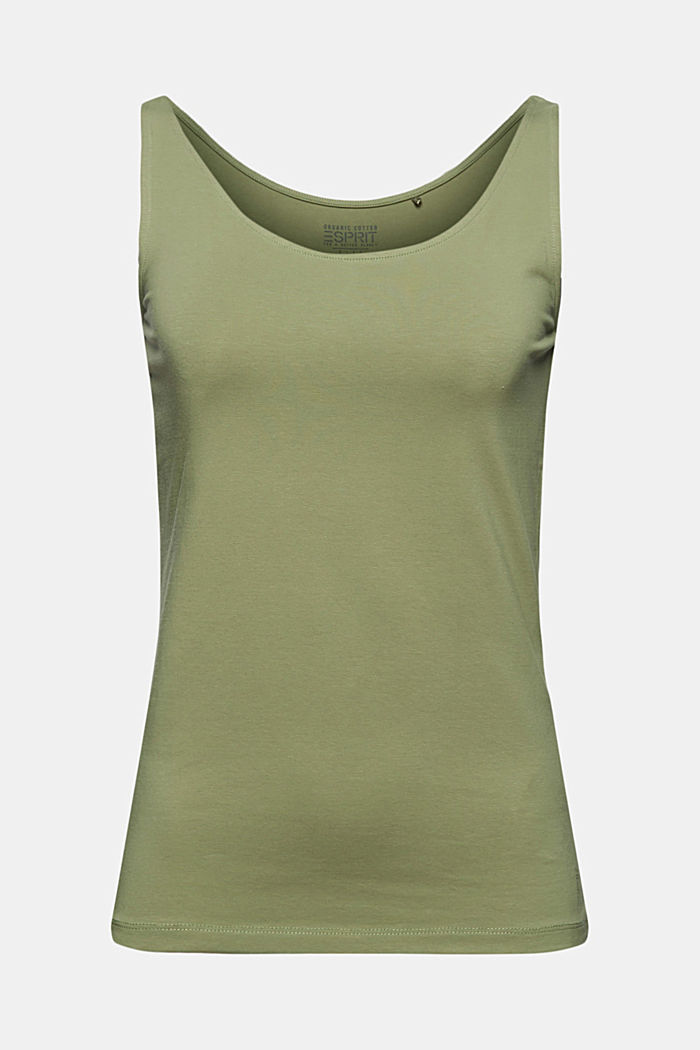 Sleeveless top made of organic cotton