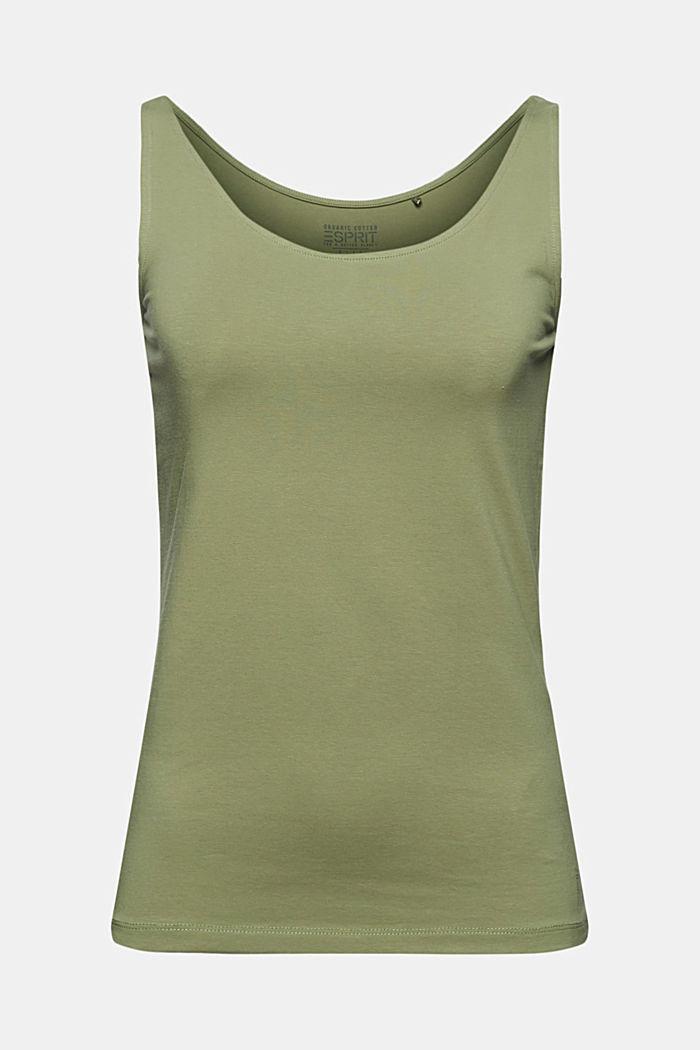 Tank-Top mit Stretch aus Organic Cotton, LIGHT KHAKI, detail image number 5