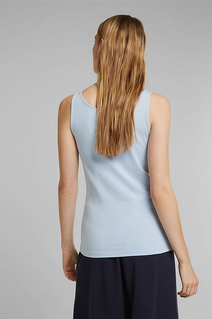 Tank-Top mit Stretch aus Organic Cotton, PASTEL BLUE, detail image number 3