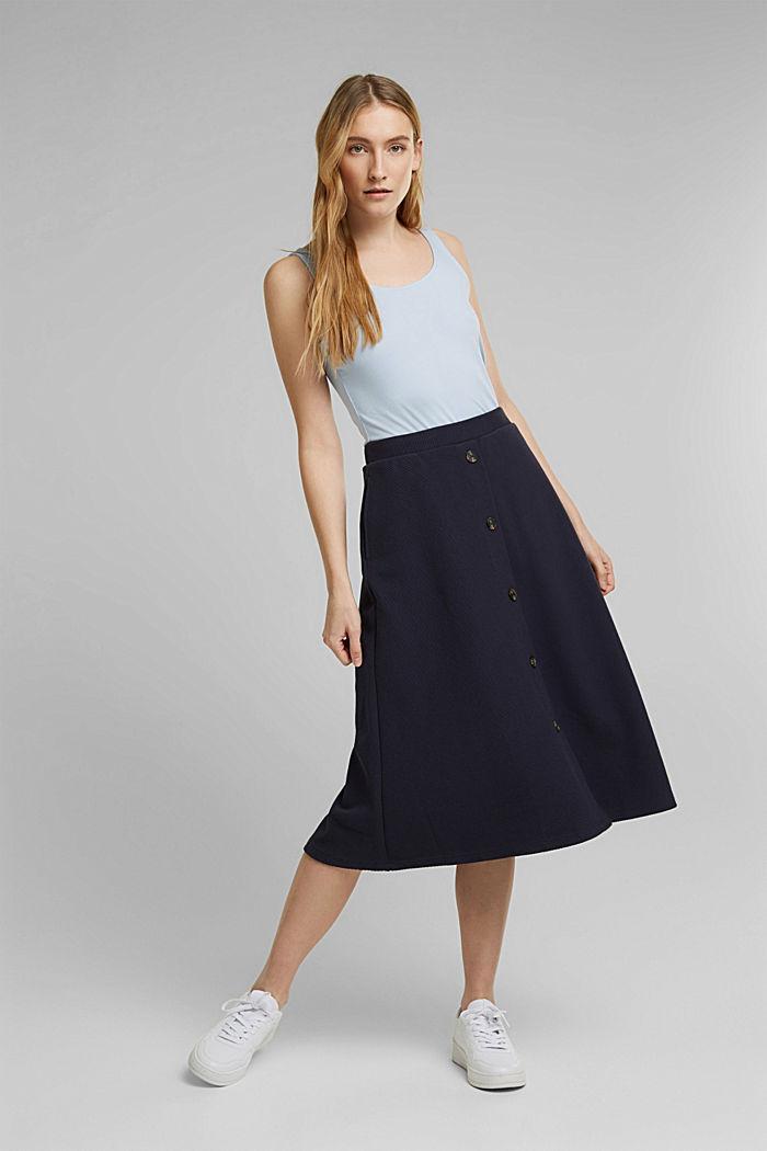 Sleeveless top made of organic cotton, PASTEL BLUE, detail image number 1