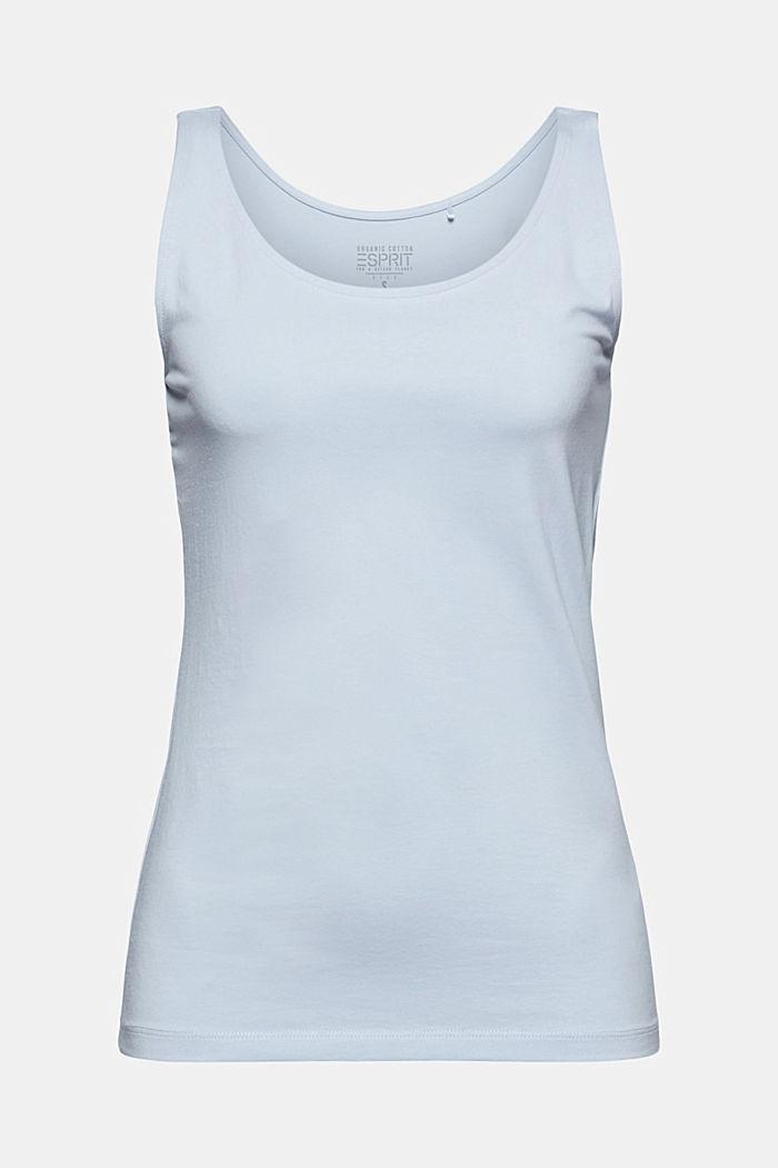 Sleeveless top made of organic cotton, PASTEL BLUE, detail image number 6