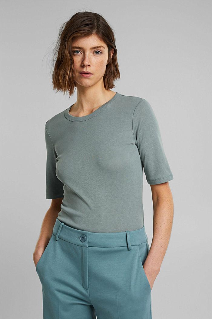 T-Shirt aus 100% Organic Cotton, TURQUOISE, detail image number 0
