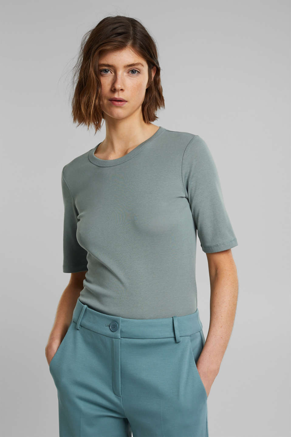 Esprit - T-shirt van 100% organic cotton