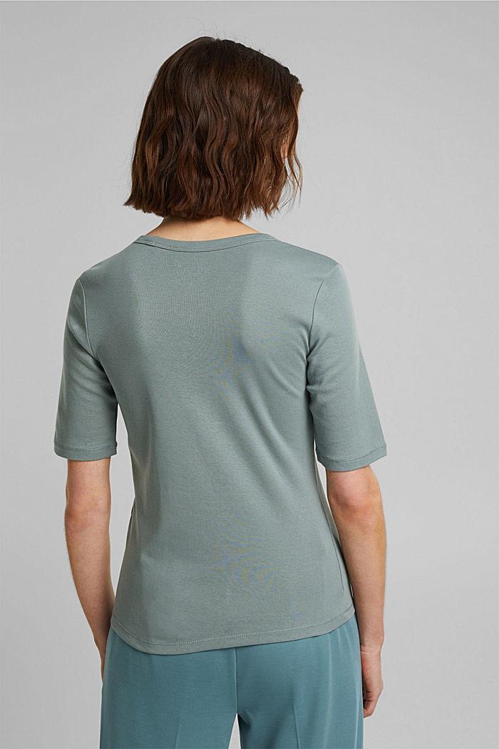 T-Shirt aus 100% Organic Cotton, TURQUOISE, detail image number 3