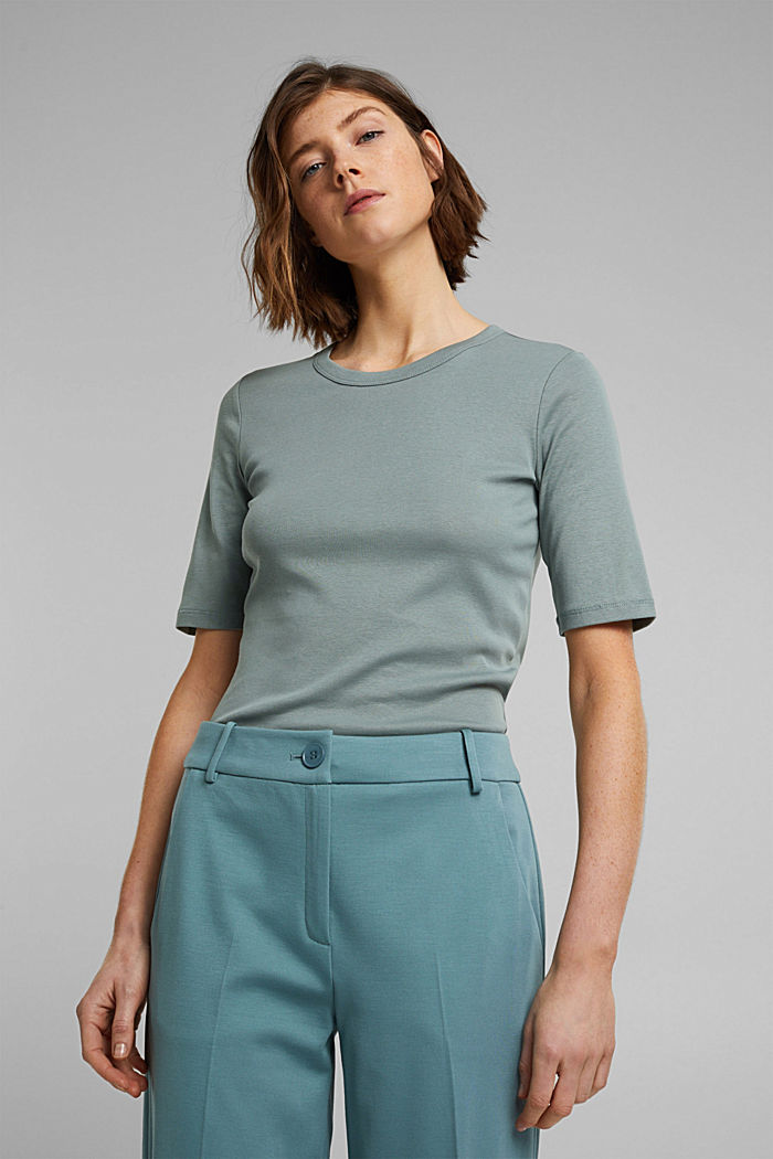 T-Shirt aus 100% Organic Cotton, TURQUOISE, detail image number 5