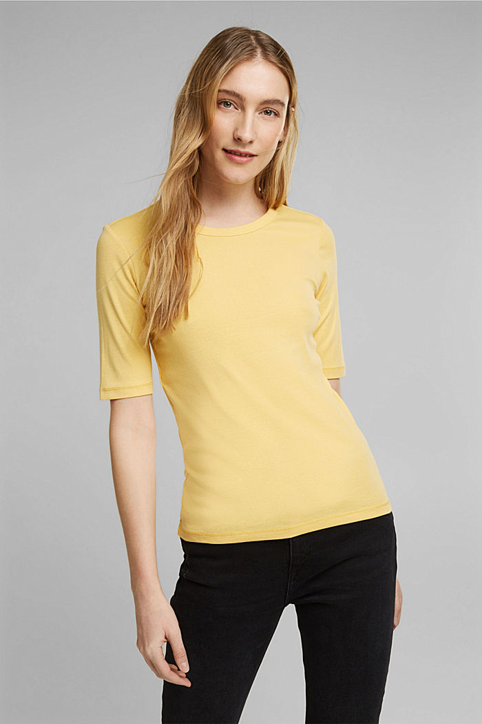 T-Shirt aus 100% Organic Cotton, SUNFLOWER YELLOW, detail image number 0