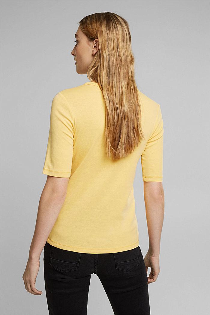 T-Shirt aus 100% Organic Cotton, SUNFLOWER YELLOW, detail image number 3