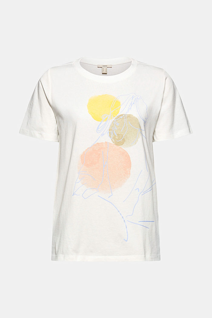 Printed T-shirt in 100% organic cotton, OFF WHITE, detail image number 6