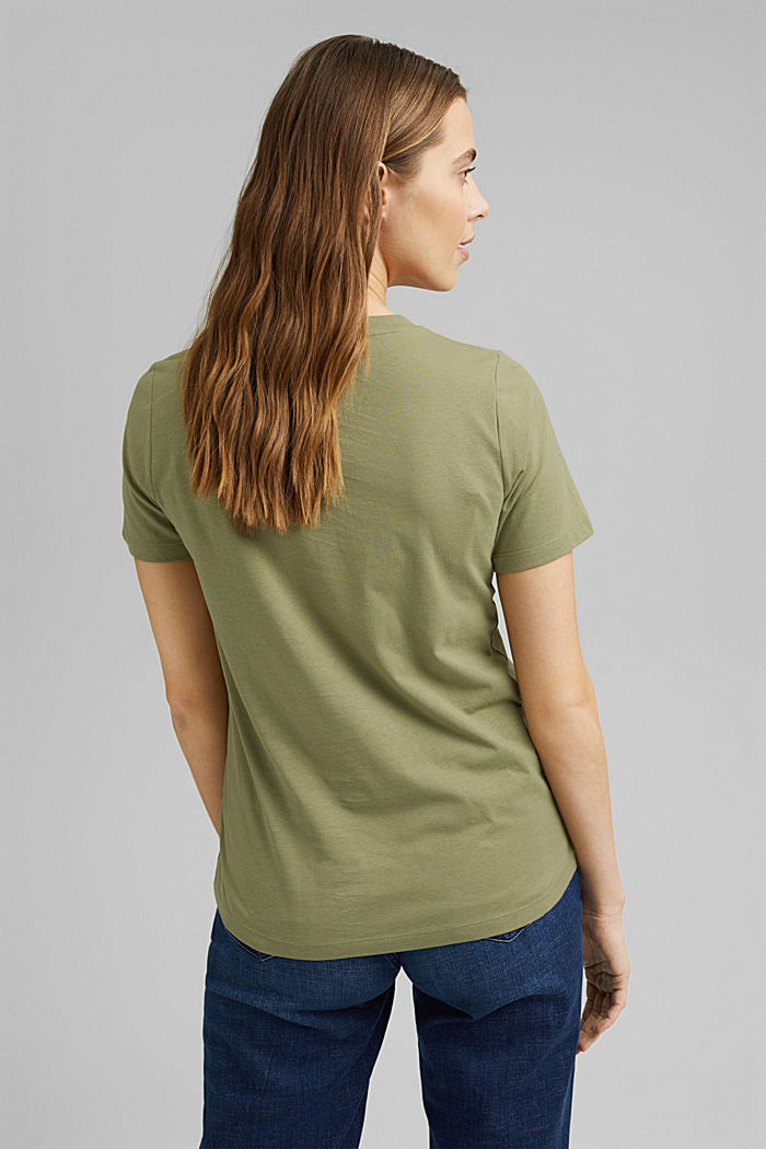 Printed T-shirt in 100% organic cotton, LIGHT KHAKI, detail image number 3