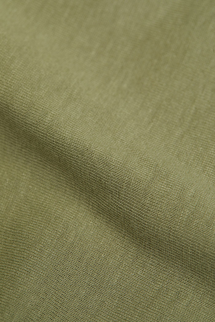 Print-Shirt aus 100% Organic Cotton, LIGHT KHAKI, detail image number 4