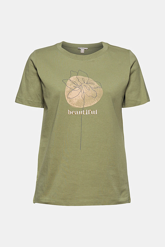 Printed T-shirt in 100% organic cotton, LIGHT KHAKI, detail image number 5