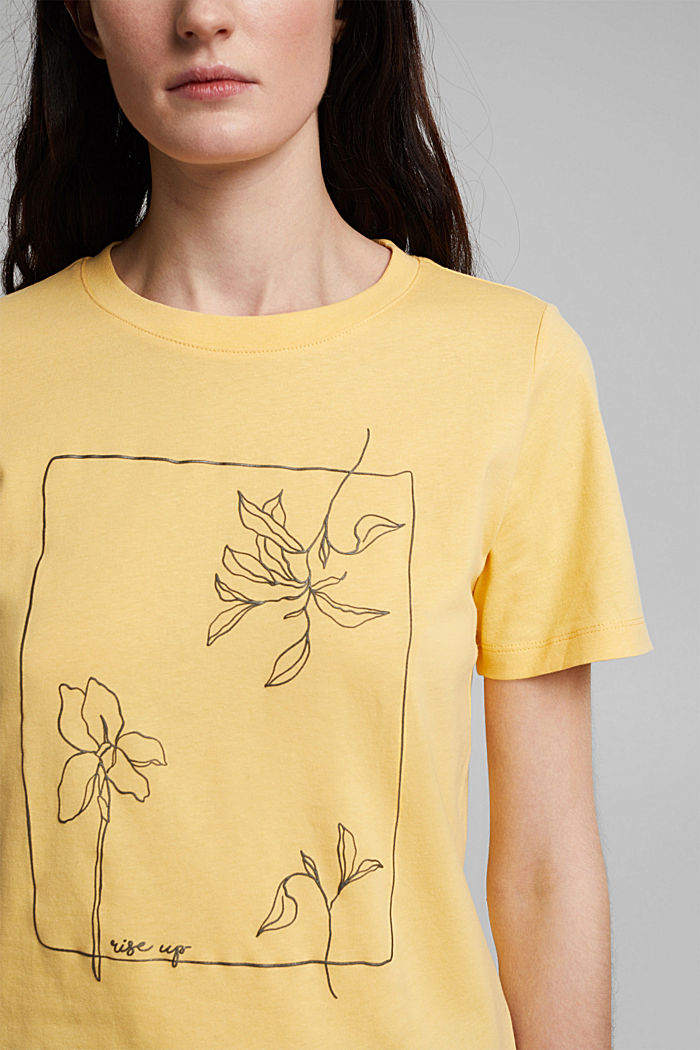Printed T-shirt in 100% organic cotton, SUNFLOWER YELLOW, detail image number 2