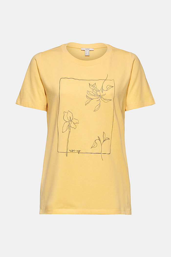Printed T-shirt in 100% organic cotton, SUNFLOWER YELLOW, detail image number 6