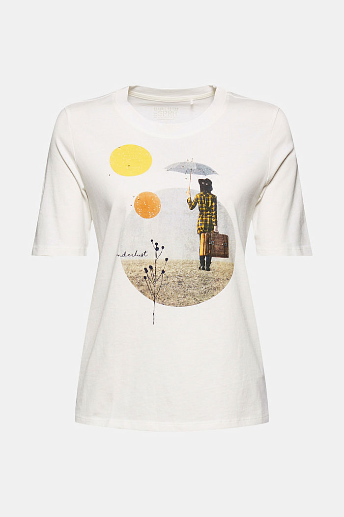 Printed T-shirt made of 100% organic cotton, OFF WHITE, detail image number 6