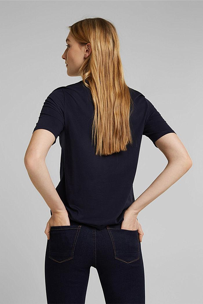 Print-T-Shirt aus 100% Organic Cotton, NAVY, detail image number 3