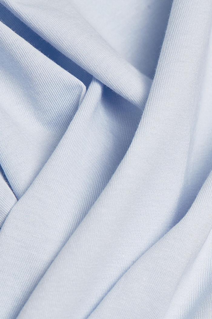 T-shirt met print, van 100% biologisch katoen, PASTEL BLUE, detail image number 4