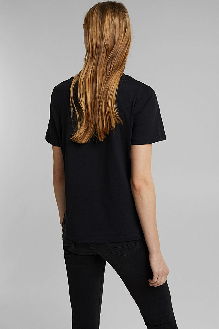 Jersey T-shirt made of 100% organic cotton, BLACK, detail image number 3