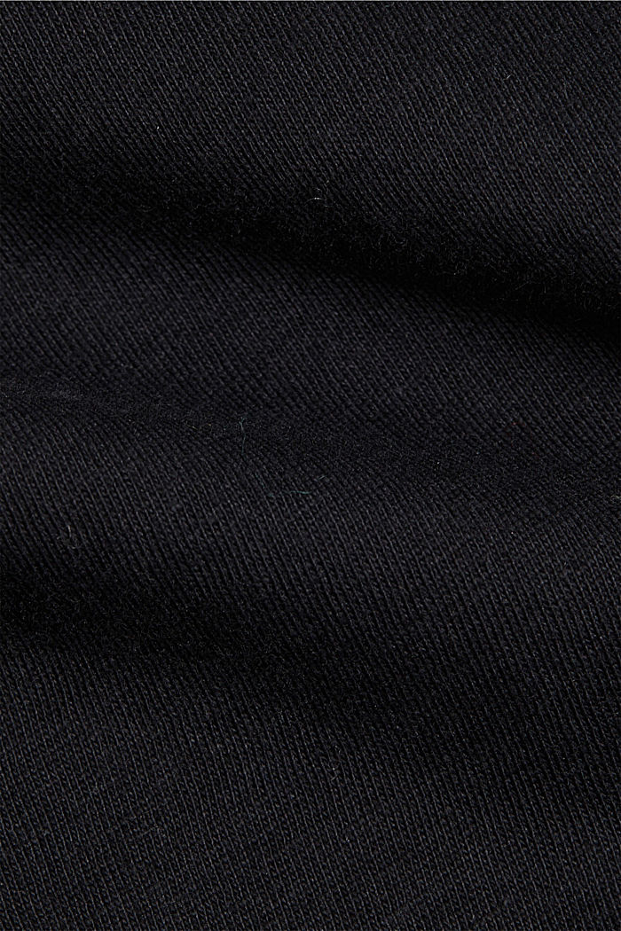 Jersey T-shirt made of 100% organic cotton, BLACK, detail image number 4