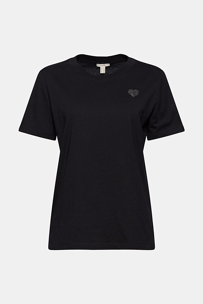 Jersey T-shirt made of 100% organic cotton, BLACK, detail image number 6