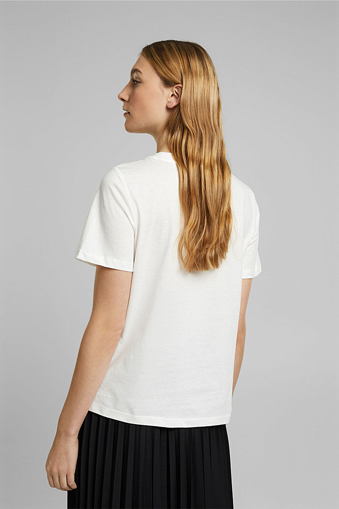 Jersey T-shirt made of 100% organic cotton, OFF WHITE, detail image number 3