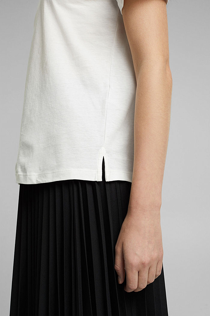 Jersey T-shirt made of 100% organic cotton, OFF WHITE, detail image number 5