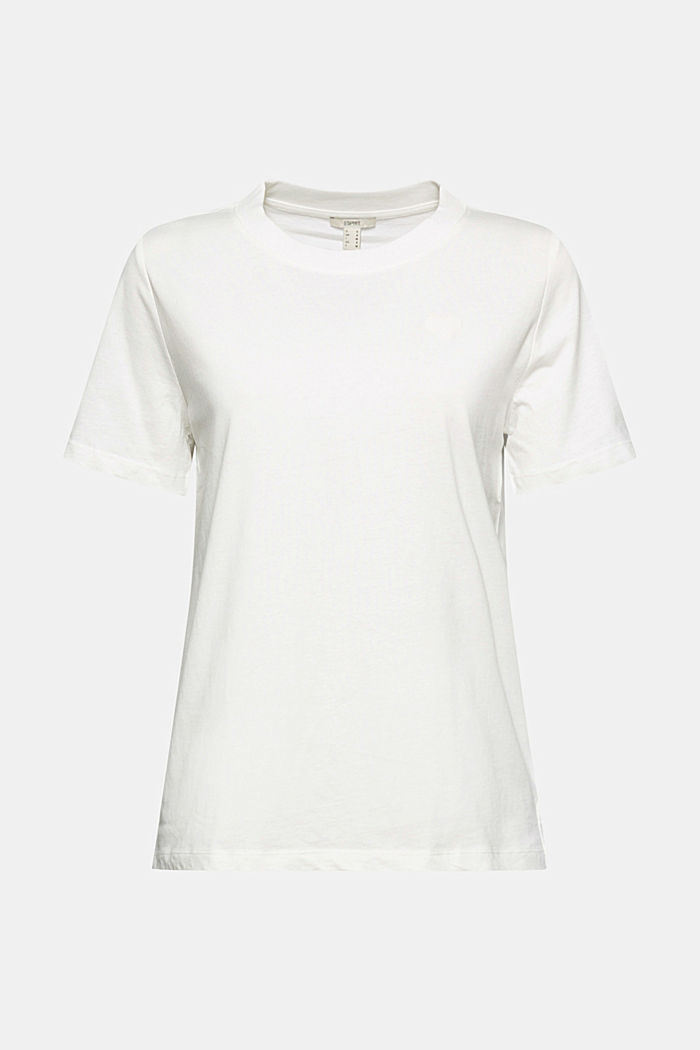 Jersey T-shirt made of 100% organic cotton, OFF WHITE, detail image number 6