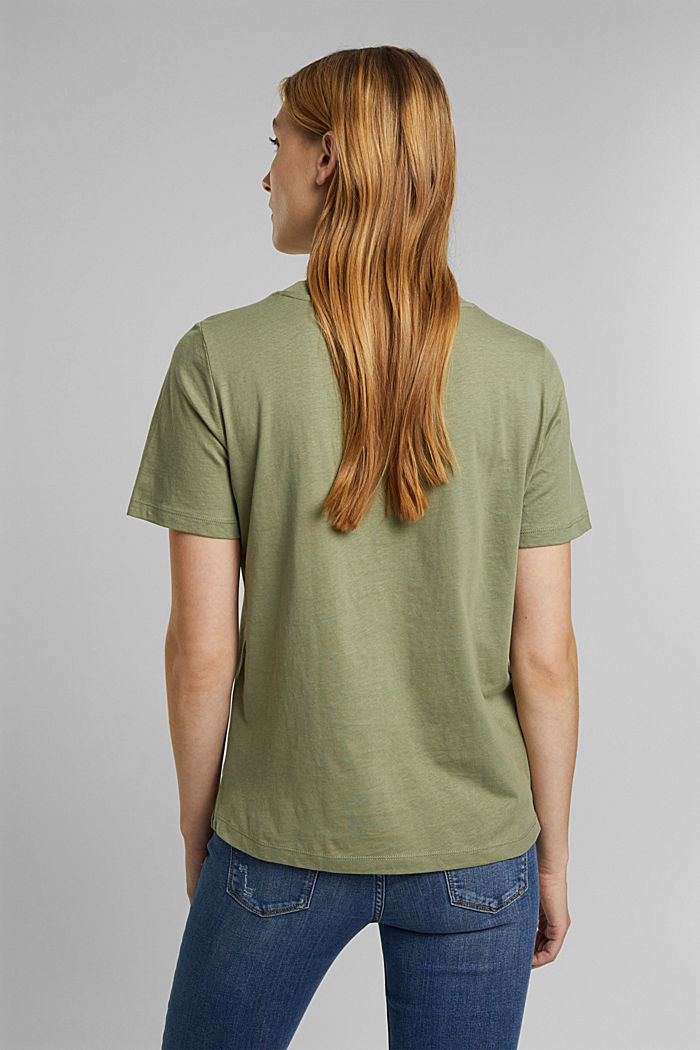 Jersey-T-Shirt aus 100% Organic Cotton, LIGHT KHAKI, detail image number 3