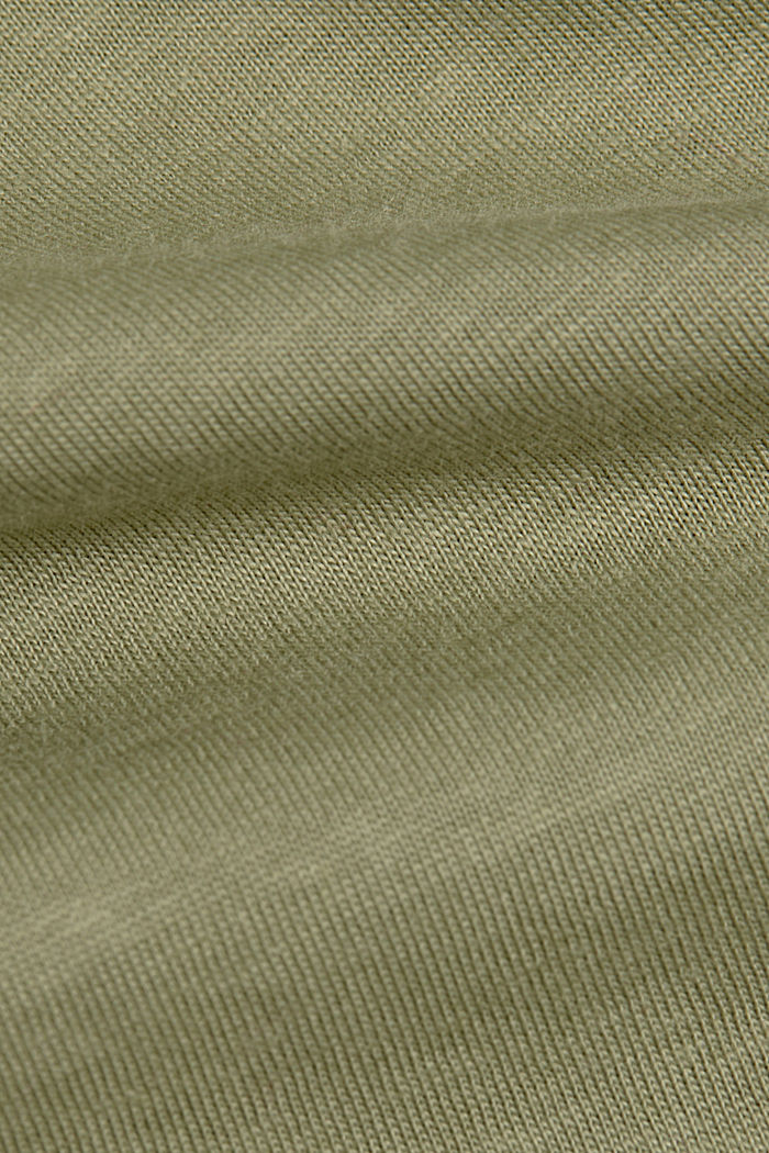 Jersey-T-Shirt aus 100% Organic Cotton, LIGHT KHAKI, detail image number 4