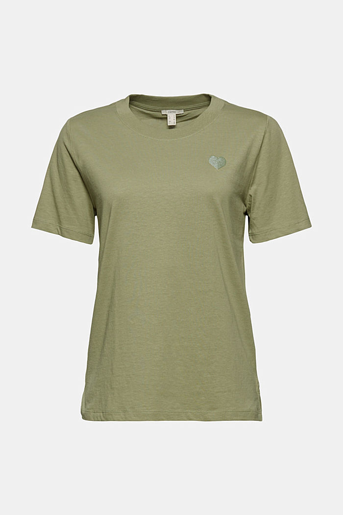 Jersey-T-Shirt aus 100% Organic Cotton, LIGHT KHAKI, detail image number 7