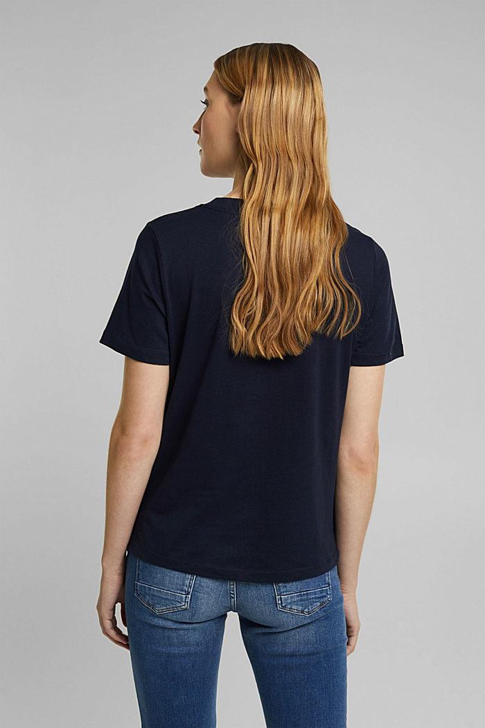 Jersey-T-Shirt aus 100% Organic Cotton, NAVY, detail image number 3