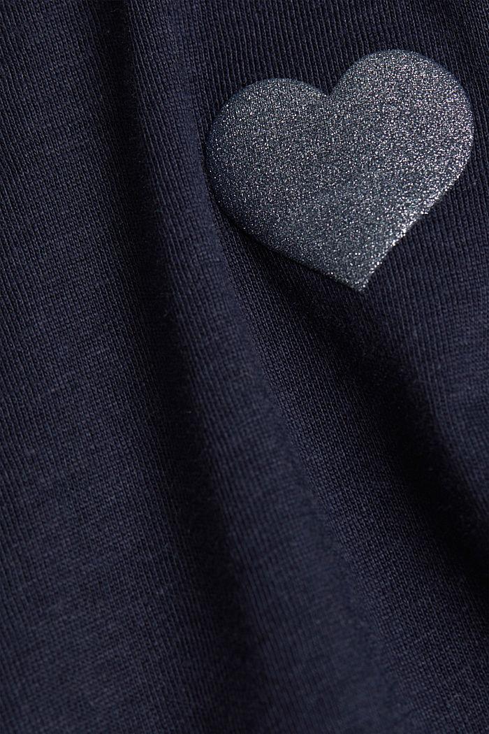 Jersey-T-Shirt aus 100% Organic Cotton, NAVY, detail image number 4
