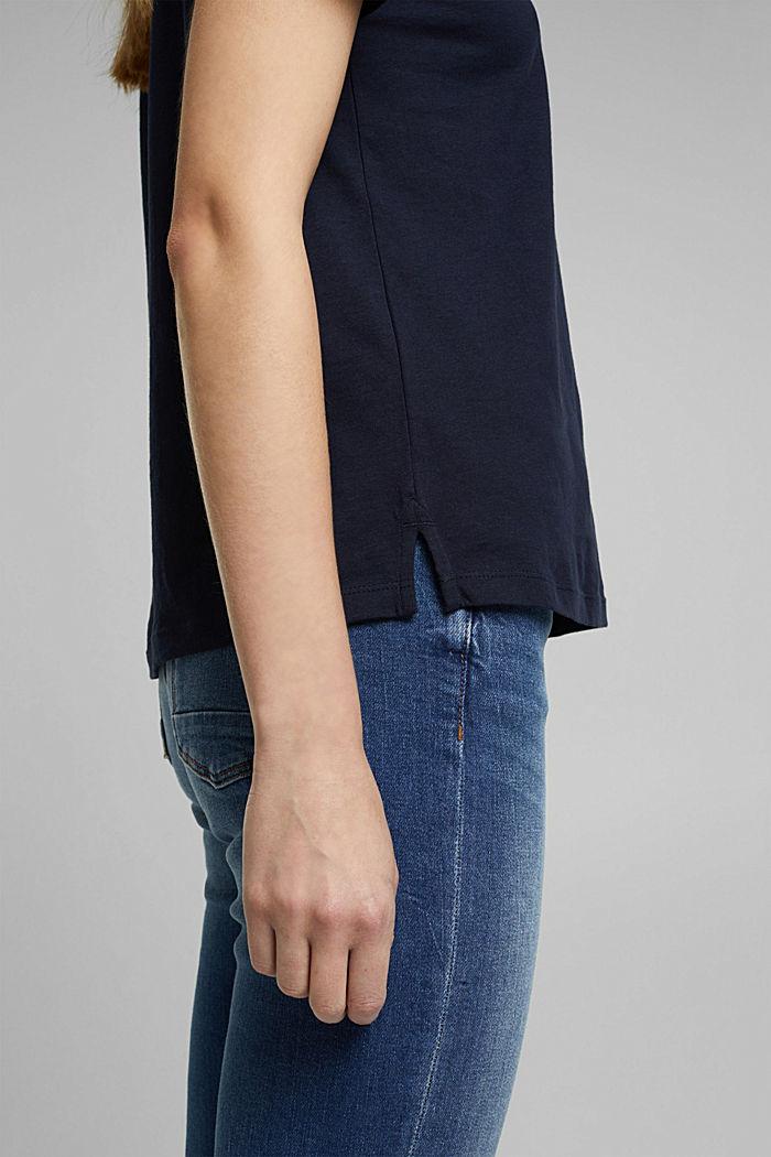 Jersey-T-Shirt aus 100% Organic Cotton, NAVY, detail image number 5