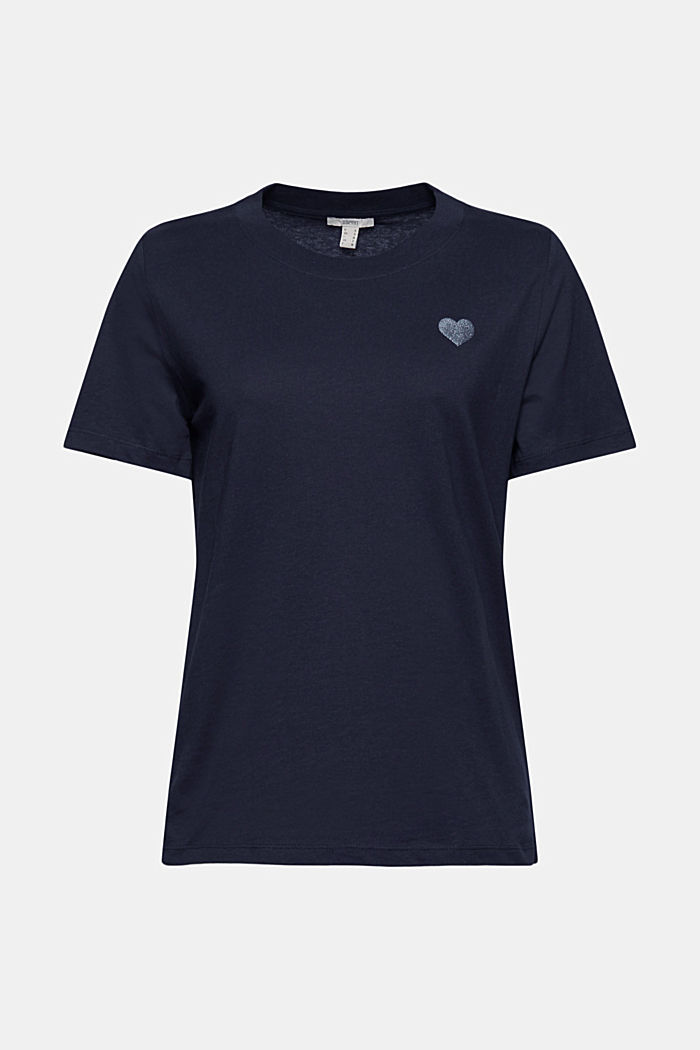 Jersey T-shirt made of 100% organic cotton, NAVY, detail image number 6