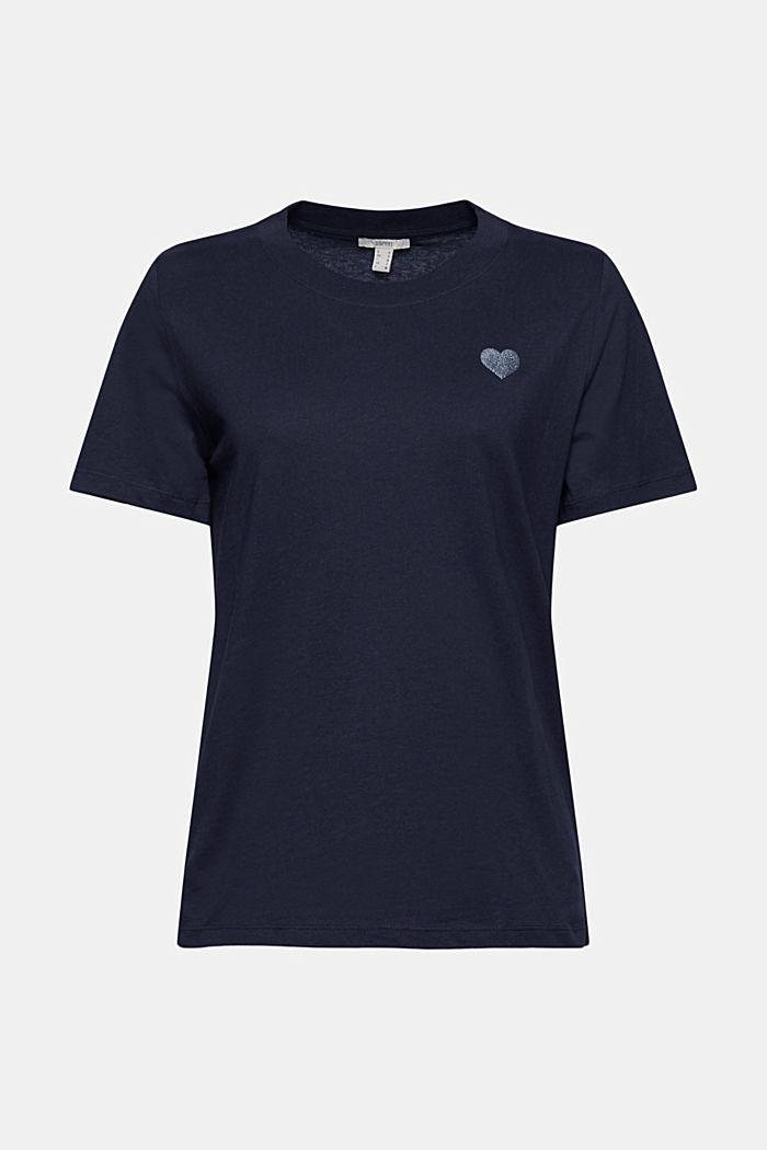 Jersey-T-Shirt aus 100% Organic Cotton, NAVY, detail image number 6