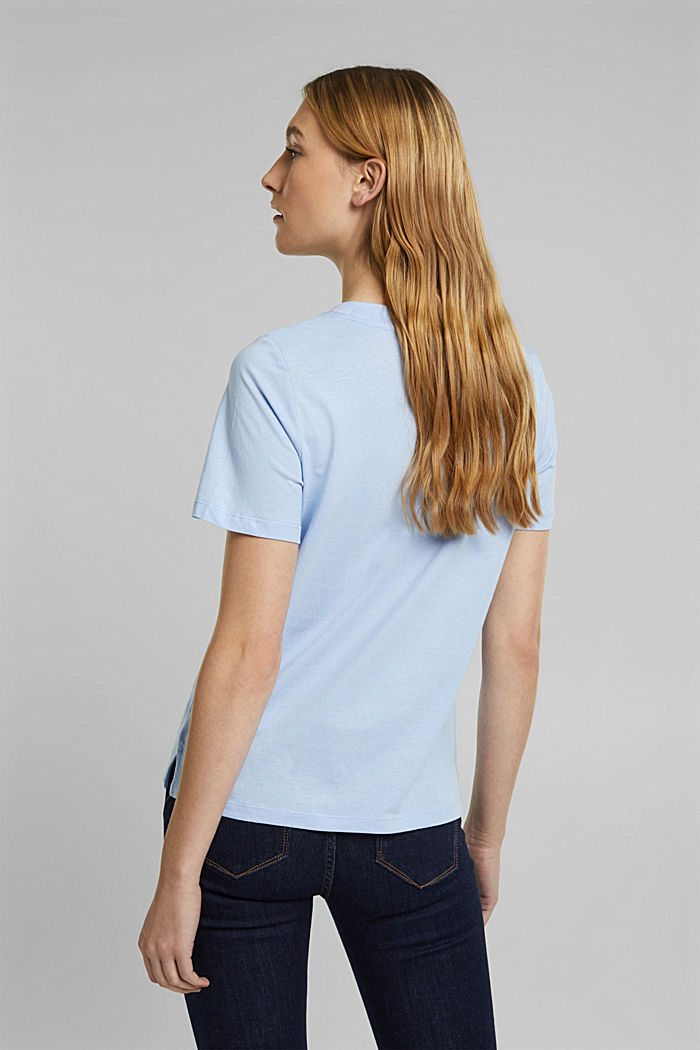 Jersey T-shirt made of 100% organic cotton, PASTEL BLUE, detail image number 3