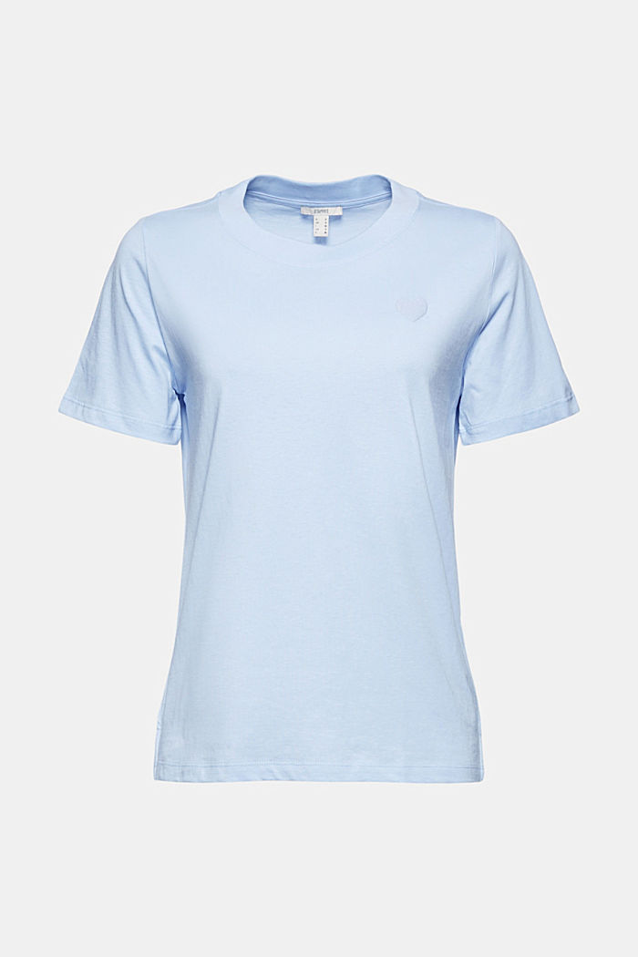 Jersey T-shirt made of 100% organic cotton, PASTEL BLUE, detail image number 6